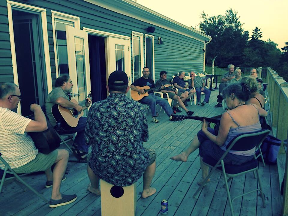 Jam session out on the deck