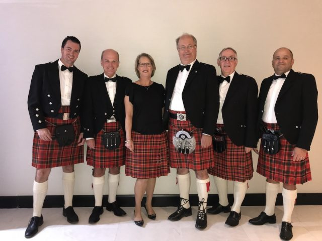 With the Munro Tartan!