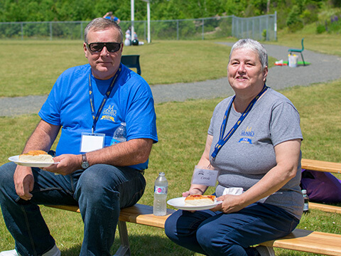 Port Hawkesbury team members at 75th BBQ 2019